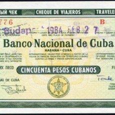 Billetes extranjeros: CUBA - 50 PESOS CUBANOS - AÑOS 80 - RARO. Lote 204796117
