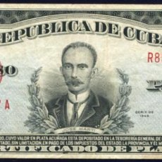 Billetes extranjeros: CUBA - 1 PESO CERTIFICADO DE PLATA 1948 - PICK 69 G. Lote 204984698