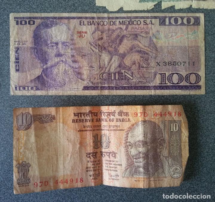 Billetes extranjeros: Lote billetes Inglaterra Republica Dominicana Argentina Paraguay Suecia Indonesia España Guatemala - Foto 3 - 205036525