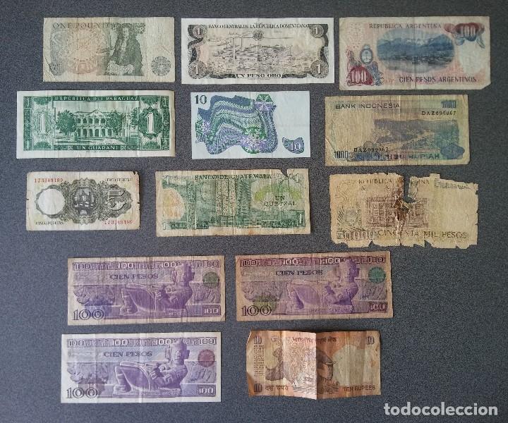 Billetes extranjeros: Lote billetes Inglaterra Republica Dominicana Argentina Paraguay Suecia Indonesia España Guatemala - Foto 4 - 205036525