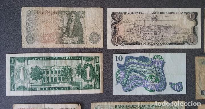 Billetes extranjeros: Lote billetes Inglaterra Republica Dominicana Argentina Paraguay Suecia Indonesia España Guatemala - Foto 5 - 205036525