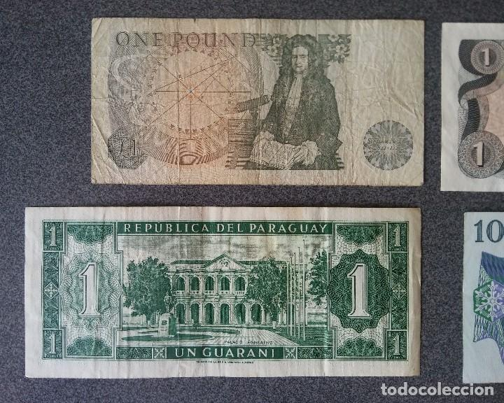 Billetes extranjeros: Lote billetes Inglaterra Republica Dominicana Argentina Paraguay Suecia Indonesia España Guatemala - Foto 7 - 205036525