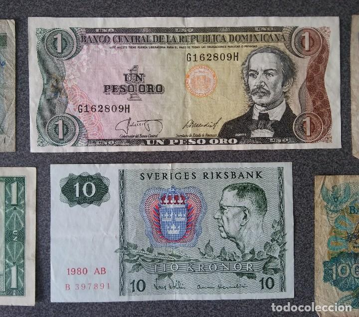 Billetes extranjeros: Lote billetes Inglaterra Republica Dominicana Argentina Paraguay Suecia Indonesia España Guatemala - Foto 14 - 205036525