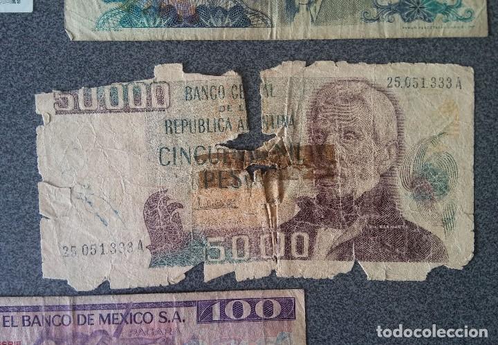 Billetes extranjeros: Lote billetes Inglaterra Republica Dominicana Argentina Paraguay Suecia Indonesia España Guatemala - Foto 19 - 205036525