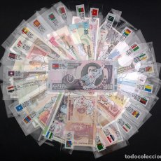 Billetes extranjeros: MUNDO 100 BILLETES DE 50 PAISES DIFERENTES SIN CIRCULAR. Lote 205133002