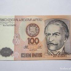 Billetes extranjeros: BILLETE DE 100 INTIS DE PERU S.C. Lote 205278321