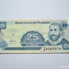 Billetes extranjeros: BILLETE DE 25 CENTAVOS DE NICARAGUA S.C. Lote 205284558