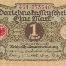 Billetes extranjeros: ALEMANIA 1 MARCO 1920 S/C - GERMANY 1 MARK 1920 UNC. Lote 262288350