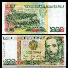 Billetes extranjeros: PERU 1.000 INTIS DE 1988 TRIO CORRELATIVO(ANDRES AVELINO CACERES - PRESIDENTE COSTITUCIONAL D PERU. Lote 205599302