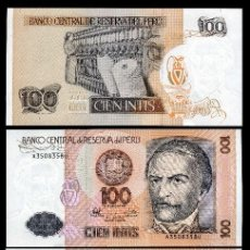 Billetes extranjeros: PERU 100 INTIS DE 1987 TRIO CORRELATIVO ( RAMON GARCIA - PRESIDENTE CONSTITUCIONAL DE LA REPUBLICA. Lote 205600628