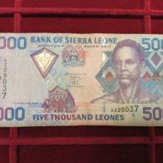 Billetes extranjeros: SIERRA LEONA 5000 LEONES 2002 PICK 27. Lote 205694617