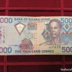 Billetes extranjeros: SIERRA LEONA 5000 LEONES 2002 PICK 27. Lote 205694708
