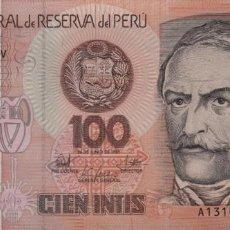 Notas Internacionais: PERÚ 100 INTIS 1987 S/C PRECIOSO. Lote 205849606