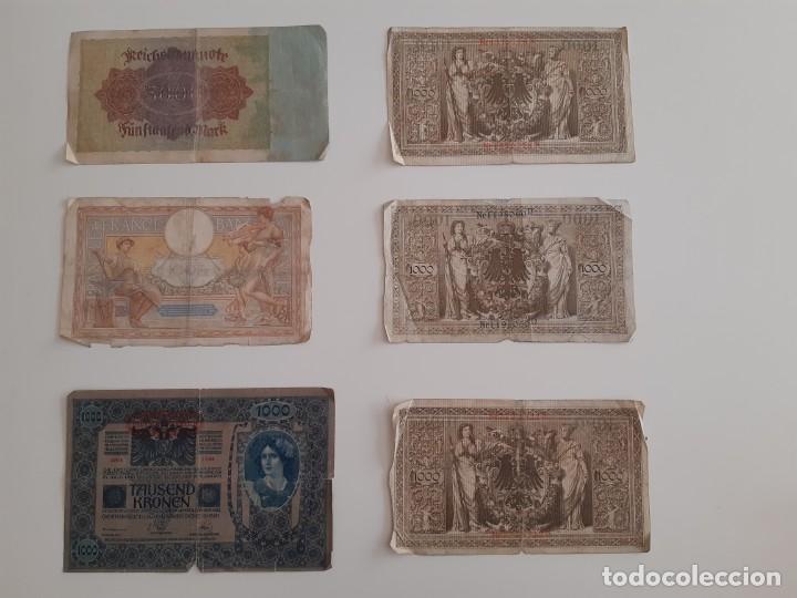 Billetes extranjeros: 6 billetes antiguos alemanes, franceses y húngaros - Foto 2 - 205849627
