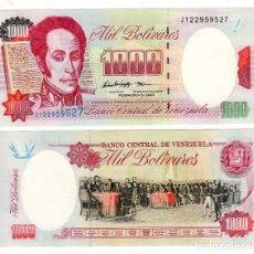 Billetes extranjeros: BILLETE DE VENEZUELA - 1.000 BOLÍVARES 1998 - SIN CIRCULAR - PLANCHA -. Lote 205857755