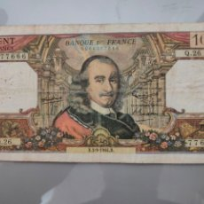 Billetes extranjeros: BILLETE 100 FRANCS 1966 FRANCIA PIERRE CORNEILLE. Lote 205873537