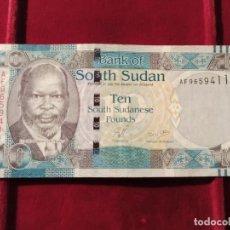 Banconote internazionali: SUDÁN DEL SUR 10 LIBRAS SUDANESAS 2011 PICK 7. Lote 206158150