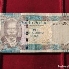 Banconote internazionali: SUDÁN DEL SUR 10 LIBRAS SUDANESAS 2011 PICK 7. Lote 206158402