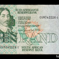 Billetes extranjeros: SUDAFRICA SOUTH AFRICA 10 RAND 1978-1993 PICK 120D CU8 BC/MBC F/VF. Lote 206246627