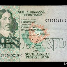 Billetes extranjeros: SUDAFRICA SOUTH AFRICA 10 RAND 1978-1993 PICK 120D CT BC/MBC F/VF. Lote 206247120