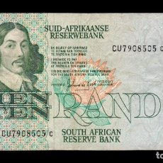 Billetes extranjeros: SUDAFRICA SOUTH AFRICA 10 RAND 1978-1993 PICK 120D CU7 BC/MBC F/VF. Lote 206247258