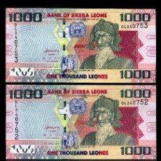 Billetes extranjeros: SIERRA LEONA 1000 LEONES DEL 2010 TRIO CORRELATIVO ( BAI BUREH - GOVERNANTE Y MILITAR ). Lote 206248078