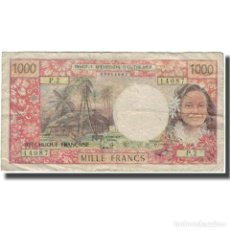 Billetes extranjeros: BILLETE, 1000 FRANCS, TAHITÍ, KM:27B, RC+. Lote 206248317