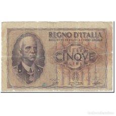 Billetes extranjeros: BILLETE, 5 LIRE, 1944, ITALIA, UNDATED (1944), KM:28, MC. Lote 206296233