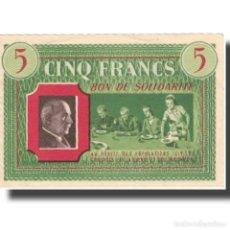 Billetes extranjeros: FRANCIA, COMITÉ NATIONAL, 5 FRANCS, SC. Lote 206296266