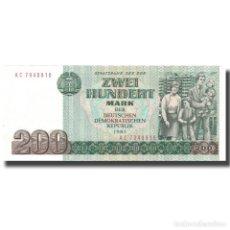 Billetes extranjeros: BILLETE, 200 MARK, 1985, REPÚBLICA DEMOCRÁTICA ALEMANA, 1985, KM:32, SC. Lote 206296308