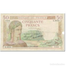 Billetes extranjeros: FRANCIA, 50 FRANCS, CÉRÈS, 1935, 1935-09-26, MC, FAYETTE:17.17, KM:81. Lote 206296390