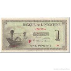 Billetes extranjeros: BILLETE, 1 PIASTRE, 1951, INDOCHINA FRANCESA, UNDATED (1951), KM:76C, MBC. Lote 206296437
