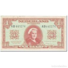Billetes extranjeros: BILLETE, 1 GULDEN, 1945, PAÍSES BAJOS, 1945-05-18, KM:70, MBC. Lote 206296476