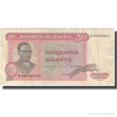 Billetes extranjeros: BILLETE, 50 MAKUTA, 1979, ZAIRE, 1979-11-24, KM:17A, BC+. Lote 206296566