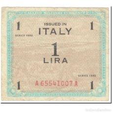 Billetes extranjeros: BILLETE, 1 LIRA, 1943, ITALIA, SERIE DE 1943, KM:M10A, BC. Lote 206296680