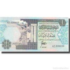 Billetes extranjeros: BILLETE, 1/2 DINAR, UNDATED (2002), LIBIA, KM:63, SC. Lote 206296716