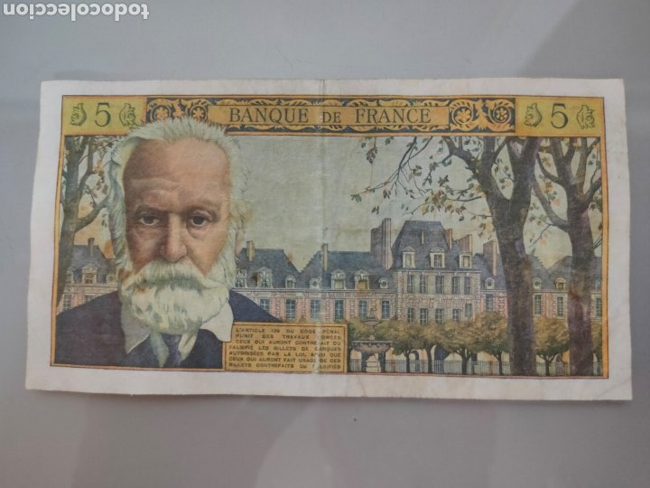 Billetes extranjeros: BILLETE 5 NOUVEAUX FRANCS 1962 FRANCIA VICTOR HUGO - Foto 2 - 206328095