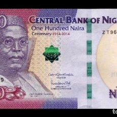 Billetes extranjeros: NIGERIA 100 NAIRA 2019 (2020) PICK 41B NUEVA FECHA, FIRMAS SC UNC. Lote 206972140