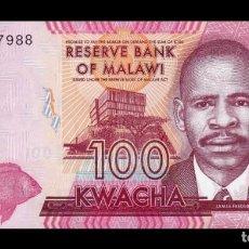 Billetes extranjeros: MALAWI 100 KWACHA 2019 PICK 65 NEW SC UNC. Lote 206972167