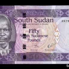 Billetes extranjeros: SOUTH SUDAN DEL SUR 50 POUNDS 2017 PICK 14C SC UNC. Lote 206972186