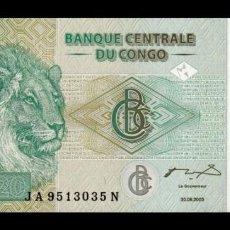 Billetes extranjeros: CONGO 20 FRANCOS 2003 PICK 94 SC UNC. Lote 206972297
