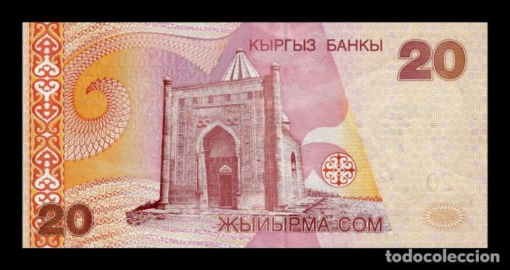 Billetes extranjeros: Kirguistan Kyrgyzstan 20 Som 2002 Pick 19 SC UNC - Foto 2 - 206972428