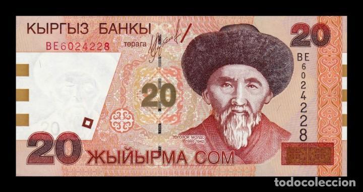 KIRGUISTAN KYRGYZSTAN 20 SOM 2002 PICK 19 SC UNC (Numismática - Notafilia - Billetes Extranjeros)