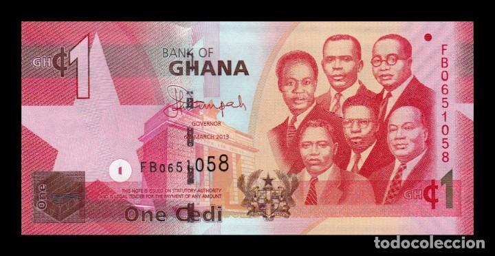 GHANA 1 CEDI 2013 PICK 37D SC UNC (Numismática - Notafilia - Billetes Extranjeros)