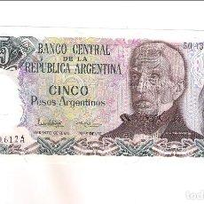 Billetes extranjeros: BILLETE DE 5 PESOS DE ARGENTINA DE 1983-84. SIN CIRCULAR. WORLD PAPER MONEY-312A (BE681). Lote 207163408