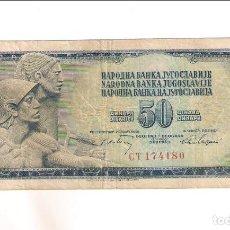 Notas Internacionais: BILLETE DE 50 DINARA DE YUGOSLAVIA DE 1968. RC. WORLD PAPER MONEY-83 (BE143). Lote 207207342