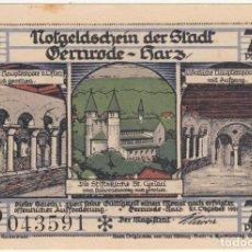 Billetes extranjeros: ALEMANIA NOTGELD 75 PFENNIG 1921 GERNRODE AM HARZ IGLESIA PILA BAUTISMO LOTE 248. Lote 207341640