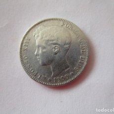 Billetes extranjeros: ALFONSO XIII . MUY BONITA PESETA DE PLATA . AÑO 1900. Lote 207355982