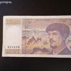 Billetes extranjeros: BILLETE ORIGINAL FRANCIA 20 FRANCOS 1991 CIRCULADO. Lote 207540335