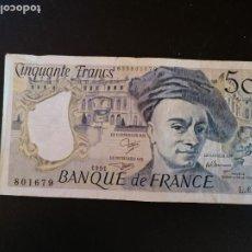 Billetes extranjeros: BILLETE ORIGINAL FRANCIA 50 FRANCOS 1991 CIRCULADO. Lote 207540796